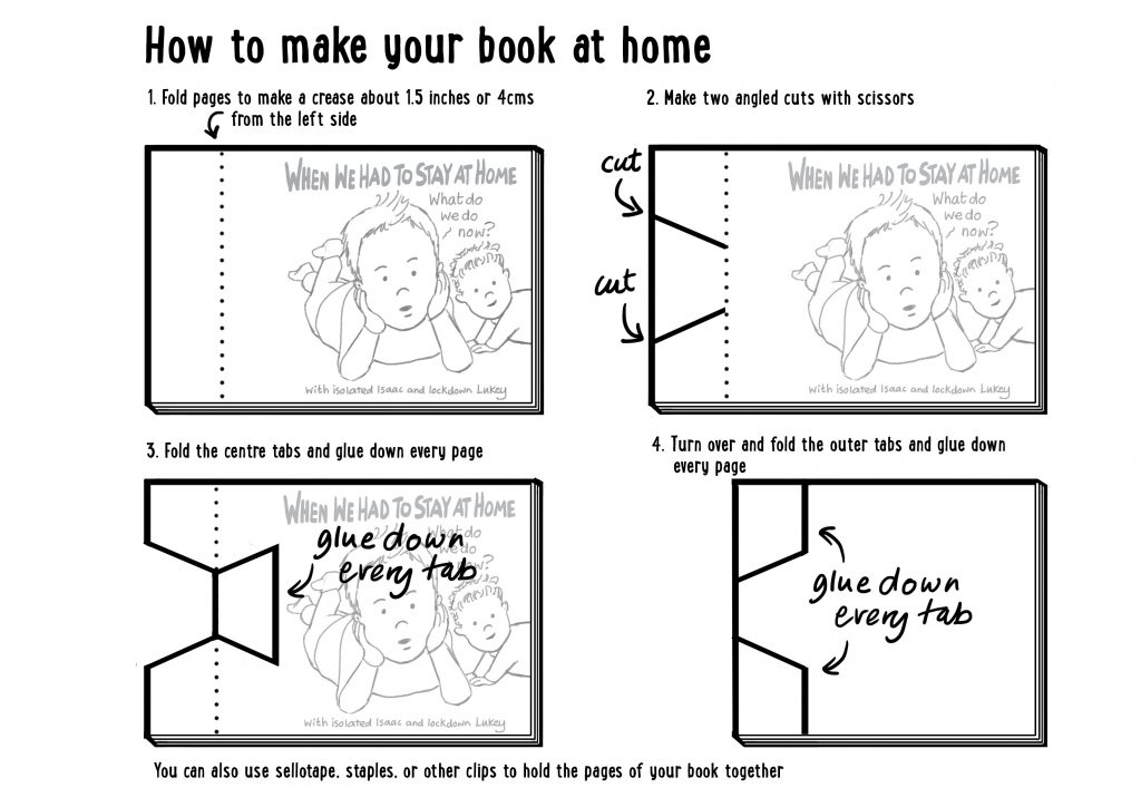 Instructions: How to make a book at home